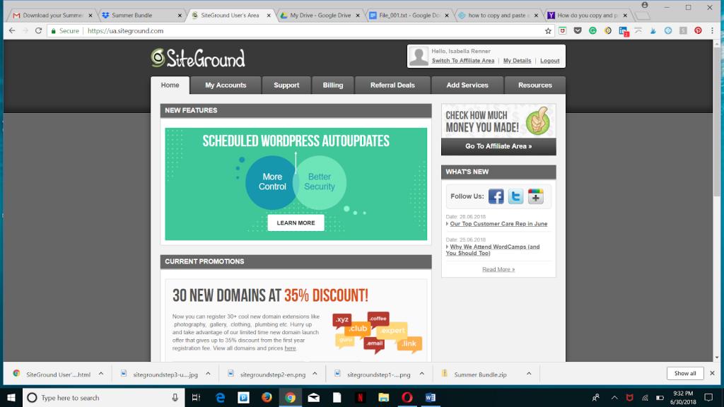 How to setup a website using SiteGround web hosting