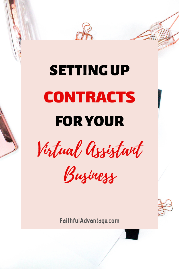 How to set up a contract for your virtual assistant business