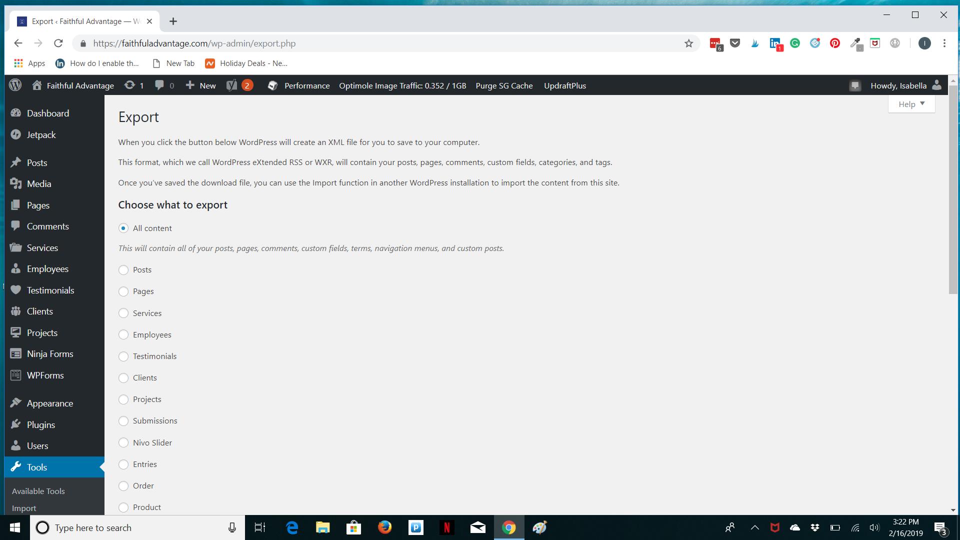 How to import WordPress posts