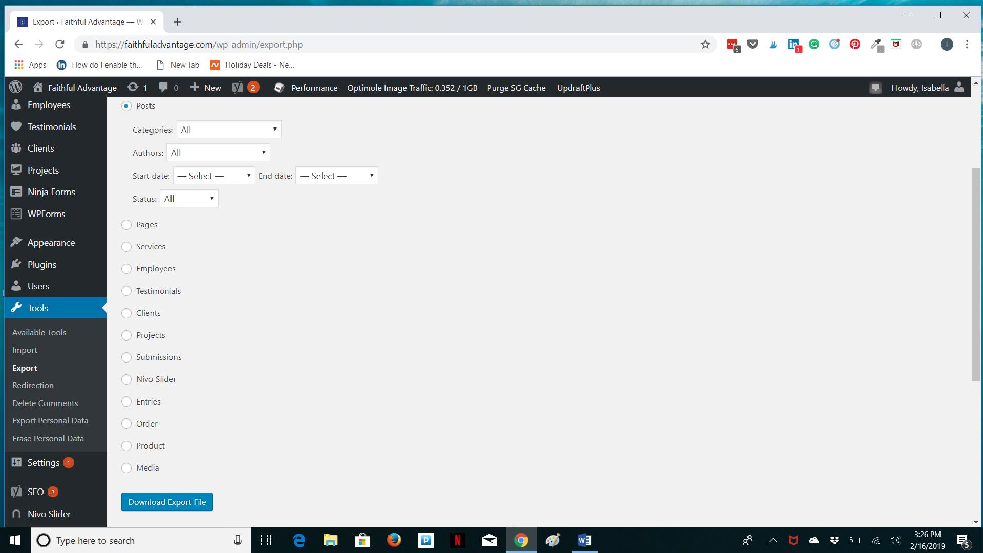 How to Export WordPress Posts