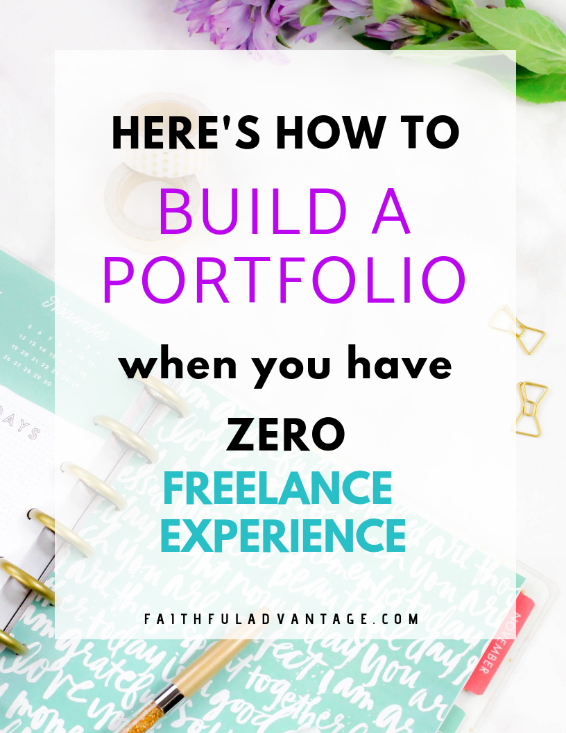 How to build a portfolio when you have zero experience
