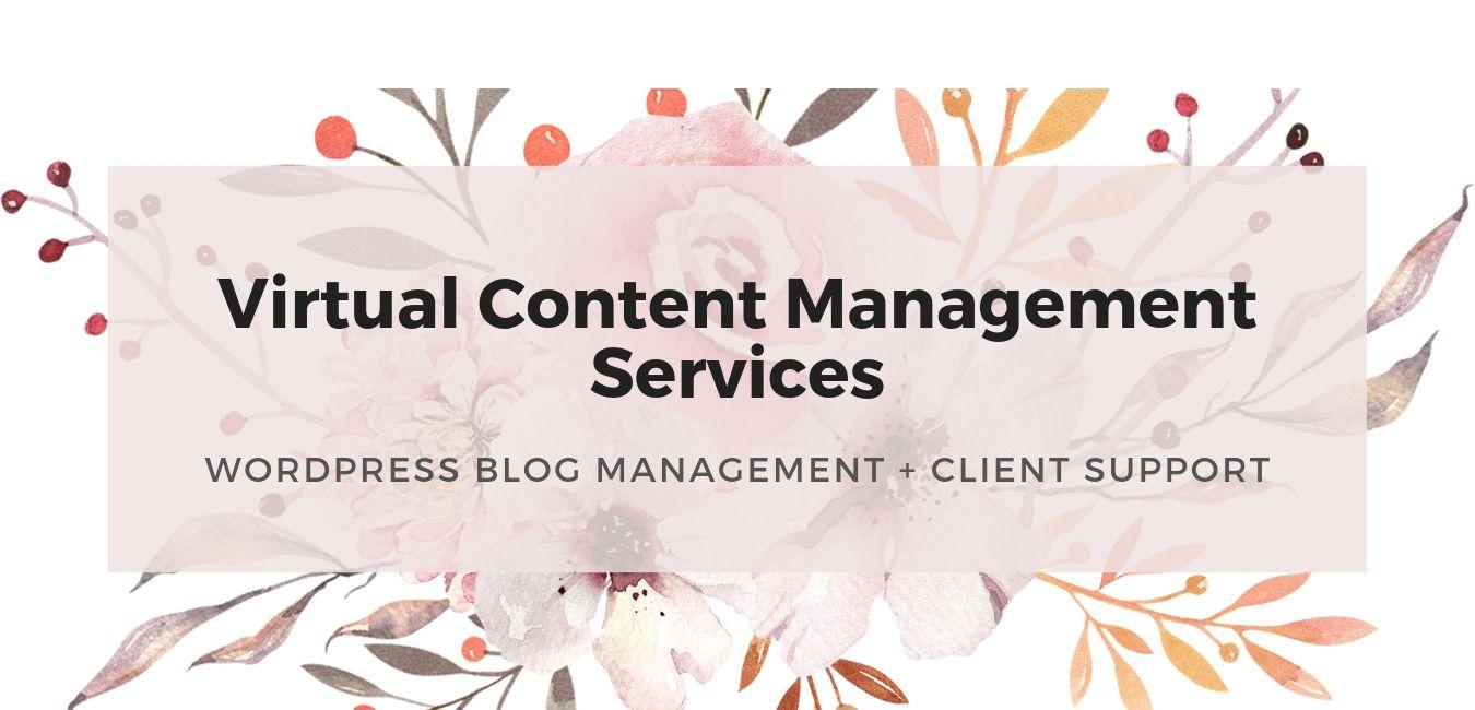 Virtual Content Management Services for solopreneurs